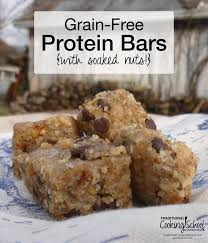 grain free protein bars with soaked nuts