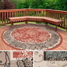 Patio Area Rug Outdoor Round Oval U0026 Square Area Rugs Shop The Best Deals For