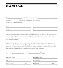 printable bill receipt bill of sale receipt template general bill of sale word template