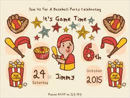 21 baseball birthday invitation templates u2013 free sample example