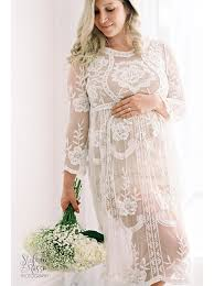 white lace maternity dress gown photo prop clothing cco10