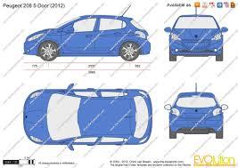 peugeot door the blueprints com vector drawing peugeot 208 5 door