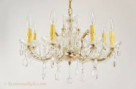 Maria Theresa Chandelier Vintage 8 Candle Italian Maria Theresa Style Crystal Chandelier