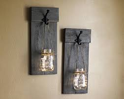 Rustic Sconce Wall Sconce Etsy