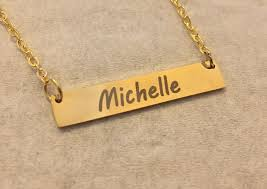 Custom Necklace Name Personalized Name Necklace Name Bar Necklace Personalized Bar