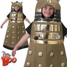 Kids Robot Halloween Costume Dalek Age 7 8 Kids Fancy Dress Boys Girls Doctor Robot