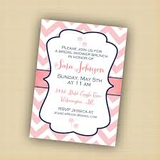 bridal luncheon wording photo pink chevron invitation bridal image
