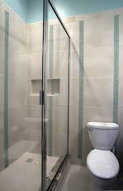 modern glass shower stall with stailess steel frame for small cream