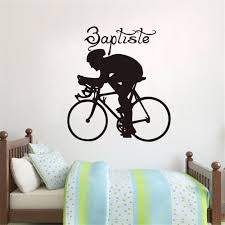 aliexpress com buy sports bicycle cycling bike wall sticker home aliexpress com buy sports bicycle cycling bike wall sticker home decor custom art removable wall stickers for bedroom vinyl decal mural decoration from