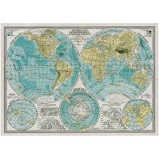 World Map Poster With Pins by Vintage Style Poster Reproductions Retroplanet Com