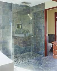 Slate Tile Bathroom Shower Astonishing Blue Slate Tile Bathroom 23514 Home Ideas Gallery