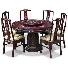 rosewood mother of pearl design roundning table with chairs photos