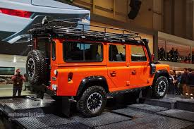 land rover defender 2015 land rover says goodbye to the defender in geneva with 3 special