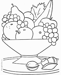 enjoyable inspiration fruit coloring pages baskets color