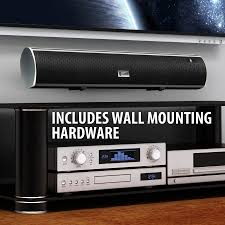 sony home theater system with bluetooth gogroove bluetooth 2 1 sound bar home theater speaker with wall
