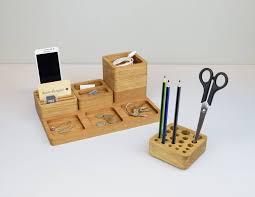 Oak Desk Organizer by Wooden Desk Tidy Oak Desk Organiser Stacking Office Desk
