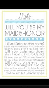 of honor asking ideas way to ask someone to be your of honor bridesmaids
