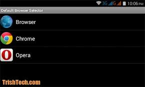 android default browser how to choose the default browser in android