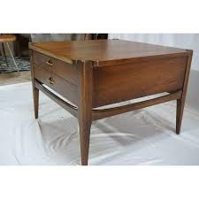 mid century end table bassett furniture mid century end table chairish