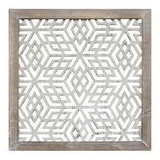 Home Decor Metal Wall Art Stratton Home Decor Distressed Grey Wood Framed Laser Cut Metal