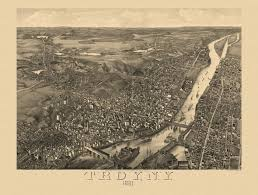 Albany Map Old Map Of Troy New York 1881 Albany County Poster Troy And Products