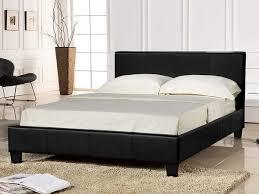 Small Bed Frames Small Black Leather Bed Frame Bedframeshop Co Uk
