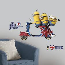 roommates rmk3002gm minions the movie peel and stick giant wall
