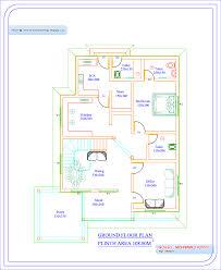 3 bhk single floor house plan 8 house plan of single floor house kerala home design plan