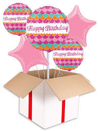 birthday balloon bouquets sparkling shells happy birthday balloon delivered inflated in uk