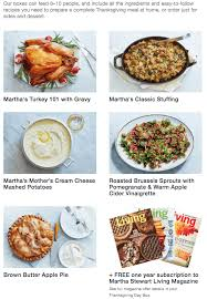 martha marley spoon thanksgiving meal box available for pre order