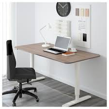 bekant desk sit stand brown ikea
