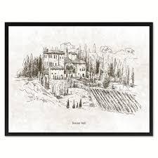 tuscany italy winery wall art home décor frames u2013 spotcolorart