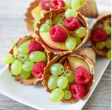 fruit cornucopias cones thanksgiving and holidays