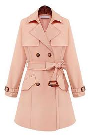 light pink wool coat light pink buckle strap cuffs belted coat 008746 women s
