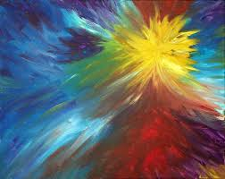 image gallery of color explosion painting