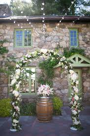 unique barrel decorations for outdoor wedding reception