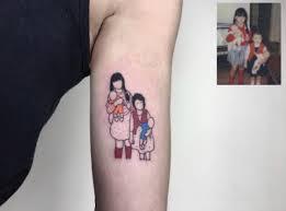 artist turns family photos into beautiful tattoos