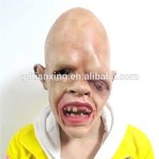 Sloth Halloween Costume Novelty Latex Rubber Creepy Scary Ugly Baby Head Goonies Sloth