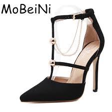 designer stiletto heels aliexpress buy pumps fashion designer metal chain t