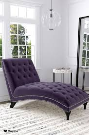 Purple Chaise Lounge The Ursula Fabric Chaise Lounge Features An Inviting And Elegant