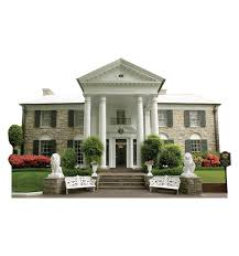 Elvis Presley Home by Elvis Presley Graceland Mansion Home Standup Standee Cardboard