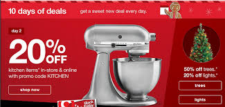 target black 20 percent friday coupon target save an extra 20 off kitchen items sunbeam mixer 14 99