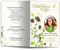 memorial program ideas dragonfly funeral program template dragonfly design memorial