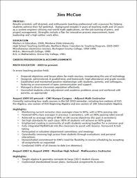 World Best Resume by Teaching Objectives For Resume Best Resume Collection