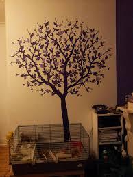 purple tree wall art and rabbit cage home decor u0026 ideas