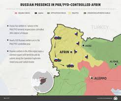 Map Of Syria And Russia Russia Beefs Up Troop Strength In Aleppo U0027s Afrin