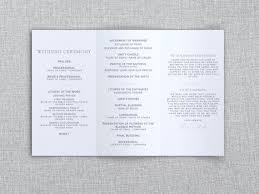 trifold wedding program paper 12 best wedding invitations ceremony programs images on
