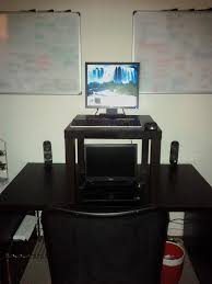 Cheap Sit Stand Desk by A Cheap And Simple Standing Desk Setup For Easy Sit Stand