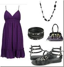 under 100 look purple swiss dot dress u0026 gladiator flats thegloss