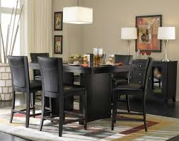 black counter height table set dining room black dining room sets modern furniture table chairs for